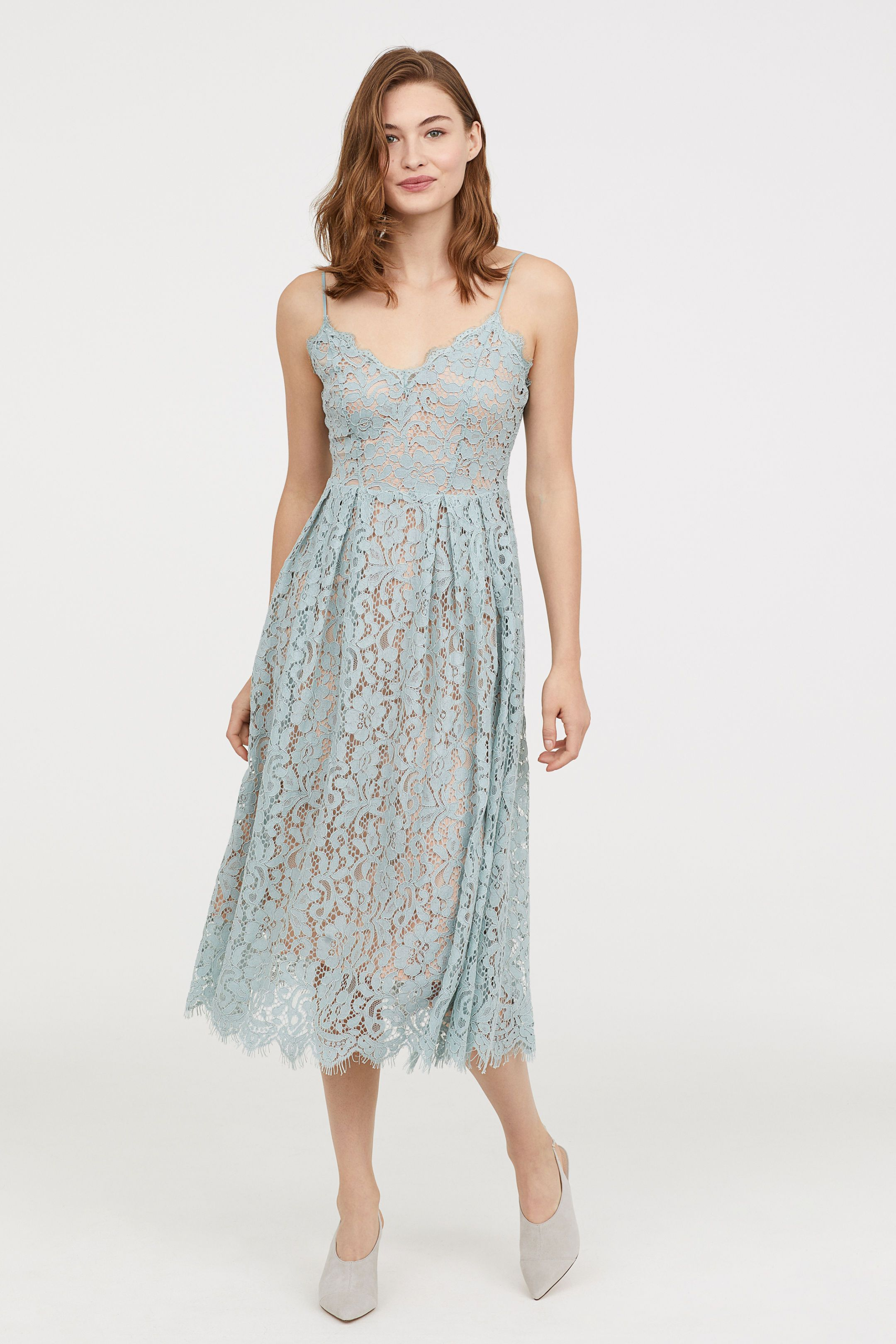 7b9072aaeaa Lace Dress - Light turquoise - Ladies