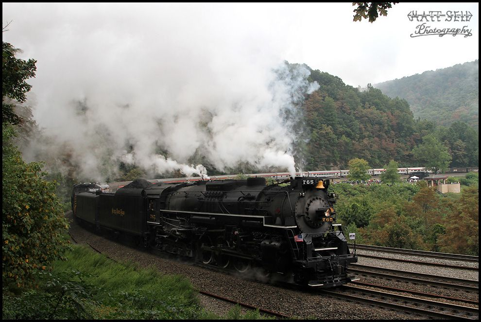 A event that hasnt happened since the 1970s. One of the biggest highlights of 2012 was shooting NKP 765 rounding Horseshoe Curve just west of Altoona, PA. I was one of a dozen railfans that set up ...
