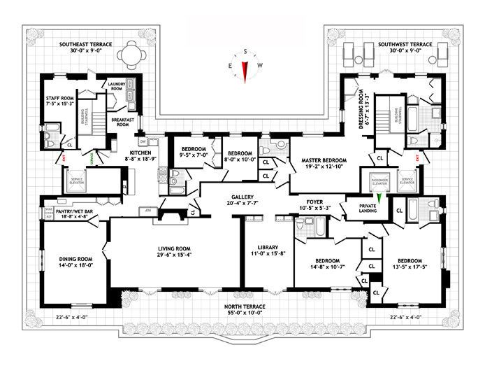 This Ues Penthouse 39 S Floorplan Is Worth More Than 10m