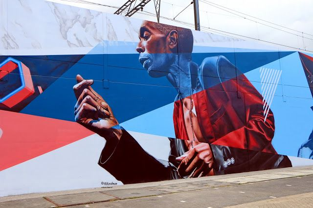 Wall paints, Muurschilderingen, Peintures Murales,Trompe-l'oeil, Graffiti, Murals, Street art.: Eindhoven - Netherlands Maxi Jazz