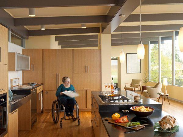 Karen Dave S Accessible Renovation House Tour Kitchen Design Open Modern Kitchen Kitchen Design