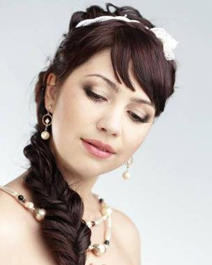Medium Hairstyles with French Braid