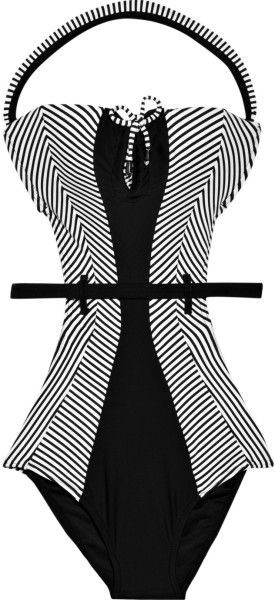Rosa Cha Black Cutout Halterneck Swimsuit
