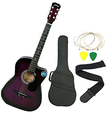 Jixing Acoustic Guitar With Combo Purple Amazon In Musical Instruments Guitar Acoustic Guitar Acoustic