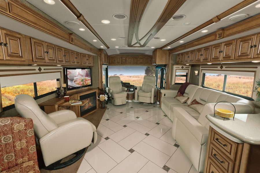 The 10 most luxury bus designs luxury rv campers and for Interior motorhome designs