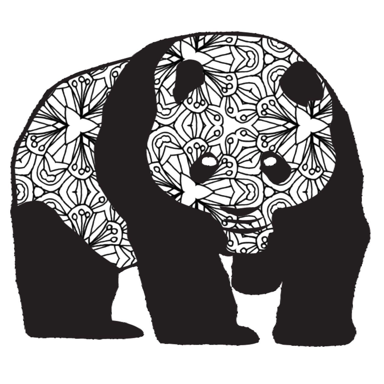 Panda Adult Coloring Page Printable PDF by ThinkPrintableArt ...