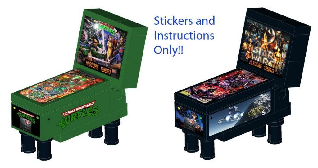Pinball Instructions Vending Machine for LEGO 10224 10218 Star Wars ...