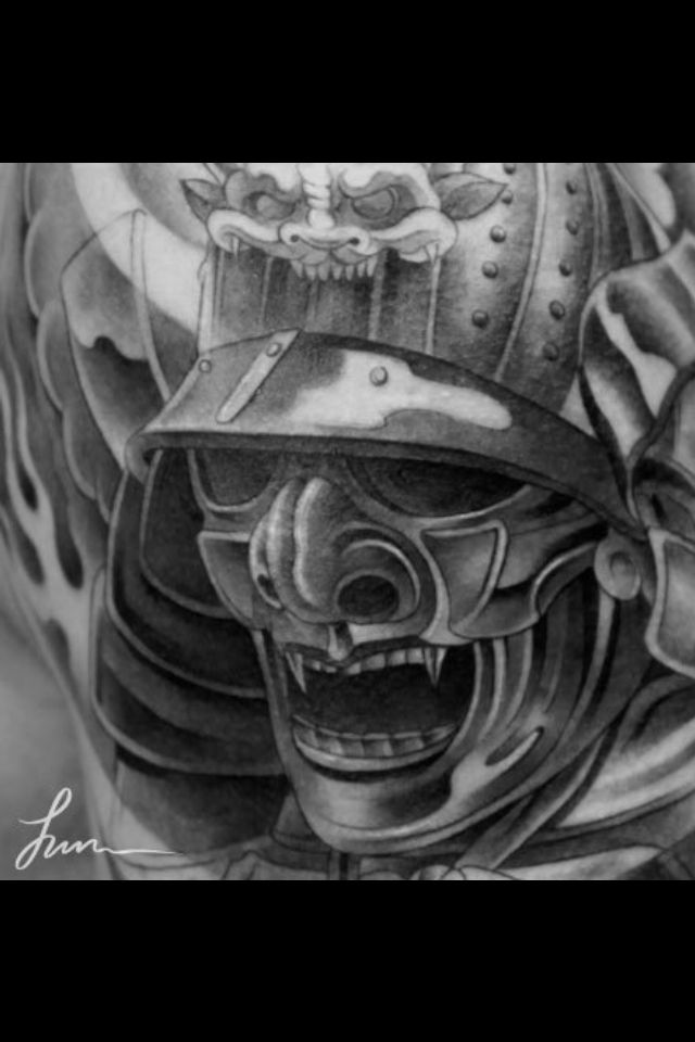 samurai mask tattoo ideas pinterest samurai and masks. Black Bedroom Furniture Sets. Home Design Ideas