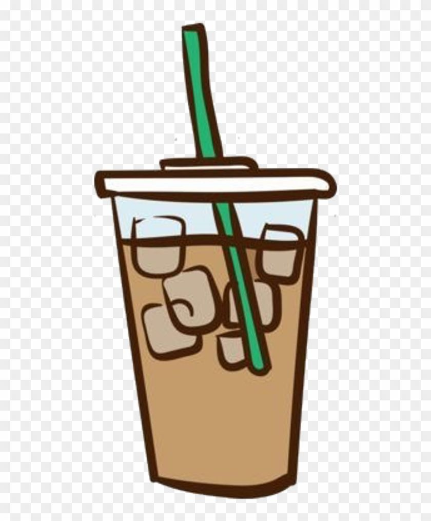 Google Image Result For Https Www Clipartmax Com Png Middle 439 4399486 Freetoedit Stickers Sticker Frappe Png Tumblr F Coffee Clipart Frappe Coffee Painting