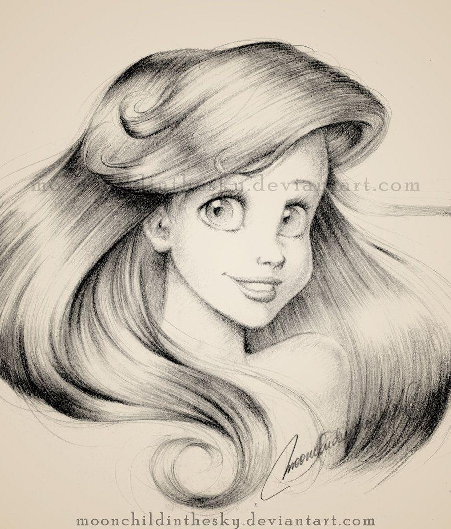 Ari l portrait drawing disney dessins trop beaux - Trop beau dessin ...