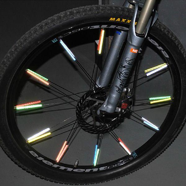 12pcs Cycling Wheel Spoke Reflectors Bicycle Bike Reflective Mount Clip Tubes