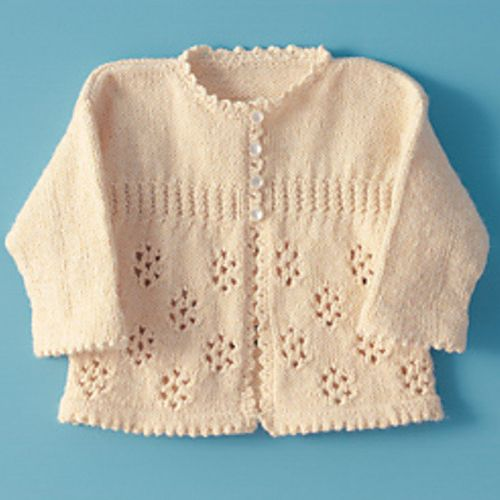 Precious Girl\'s Knitted Sweater - Free Pattern | marta | Pinterest ...