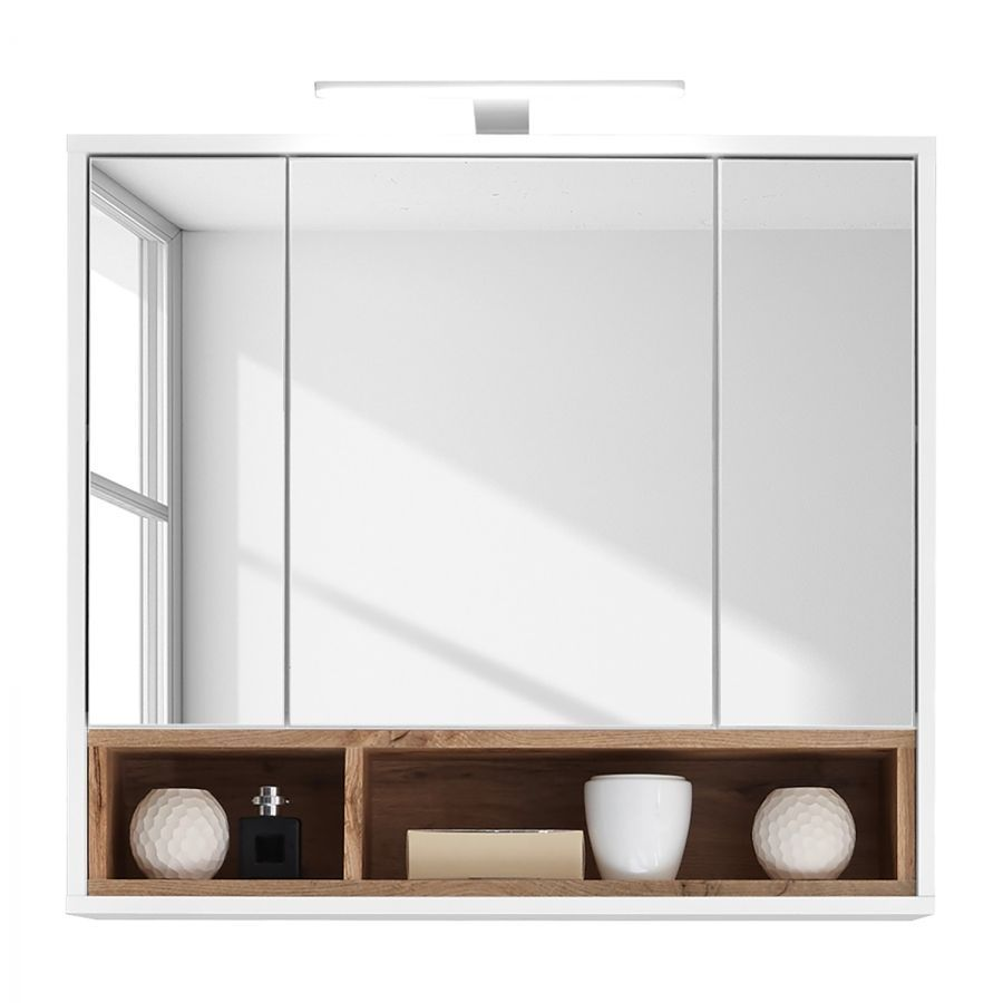 Spiegelschrank Guardo inkl. Beleuchtung Weiß