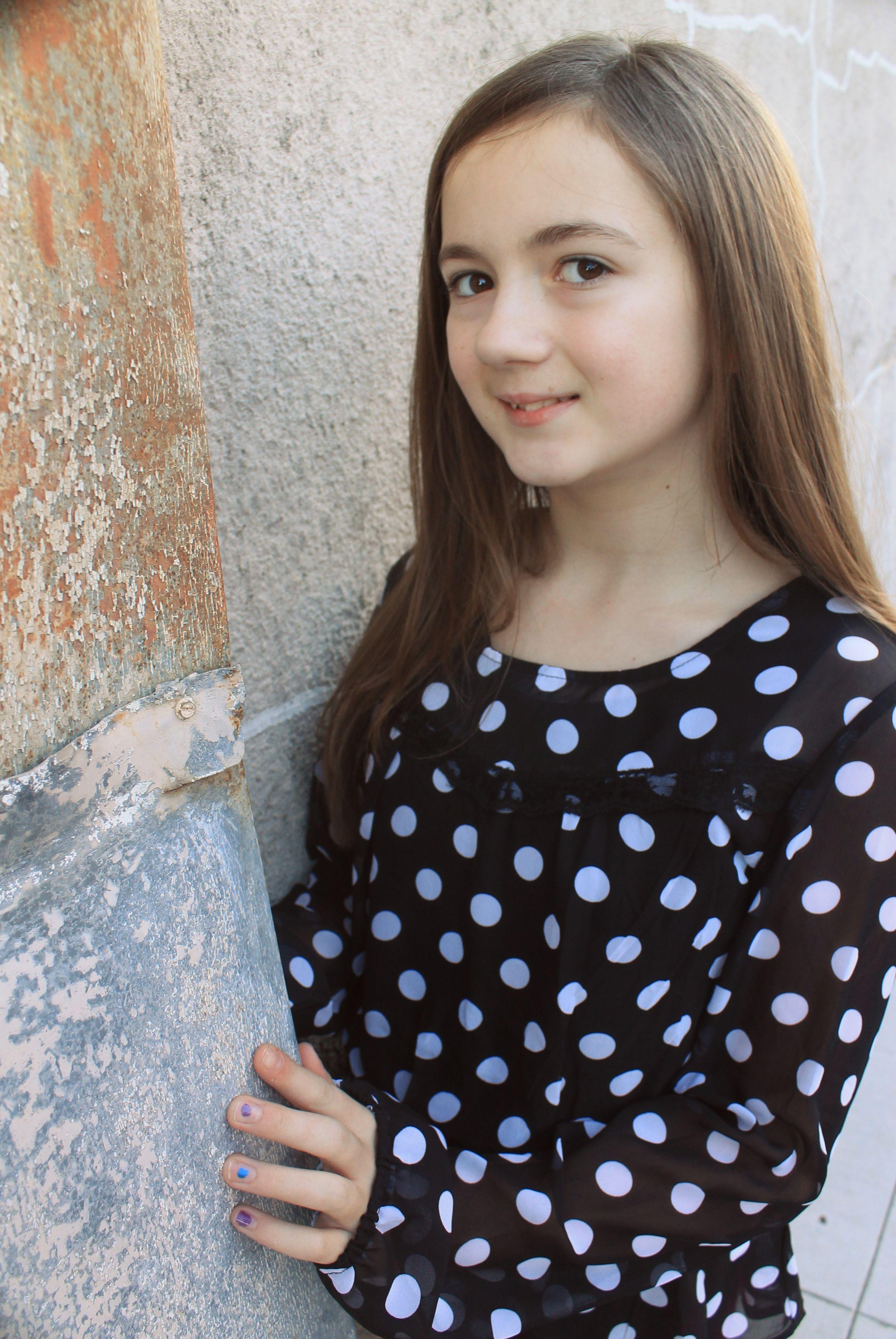 11 year old girl portrait shots fashion portrait photo
