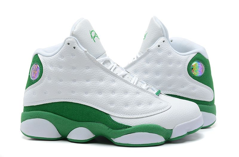 detailed look 4213a 8c48c Air Jordan 13 Retro Ray Allen Pe White Clover Basketball Shoes