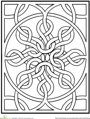 Celtic Mandala This Intricately Knotted Design Is The Perfect Way To Give Your Child Practice With Her Fine Motor Muscles And Teach About Mandalas At
