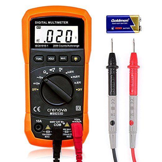 Digital Multimeter Crenova Ms8233d Auto Ranging Digital Multimeters Electronic Measuring Instrument Ac Voltage Detector Multimeter Measuring Instrument Diode