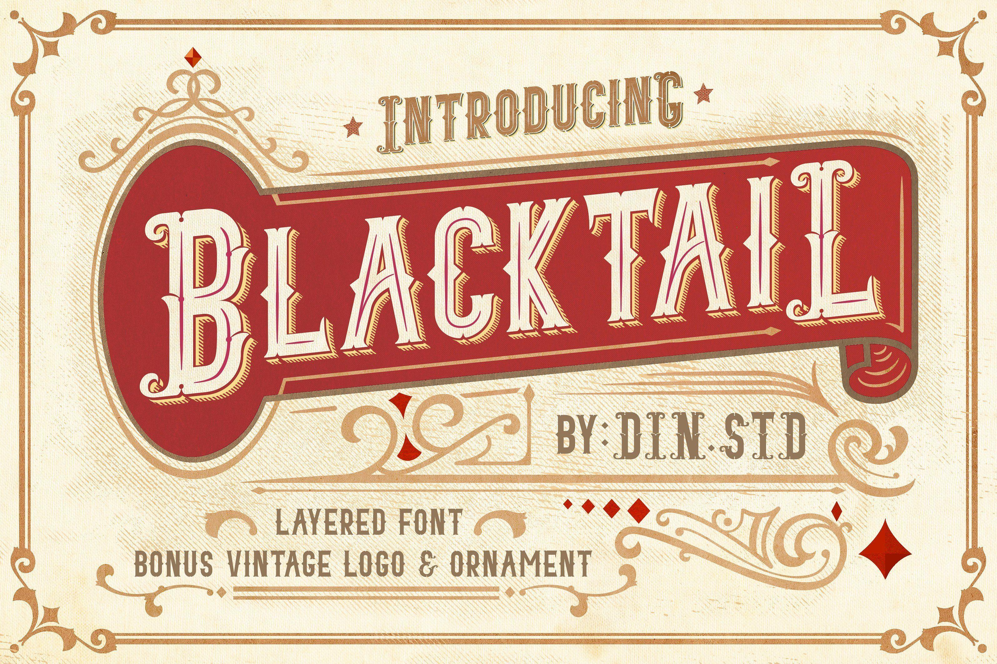 Blacktail Font Introsale 25 Signature Fonts Blacktail Font Is Very Suitable For Your Branding Project Tshirt Vintage Fonts Unique Fonts Vintage Concepts
