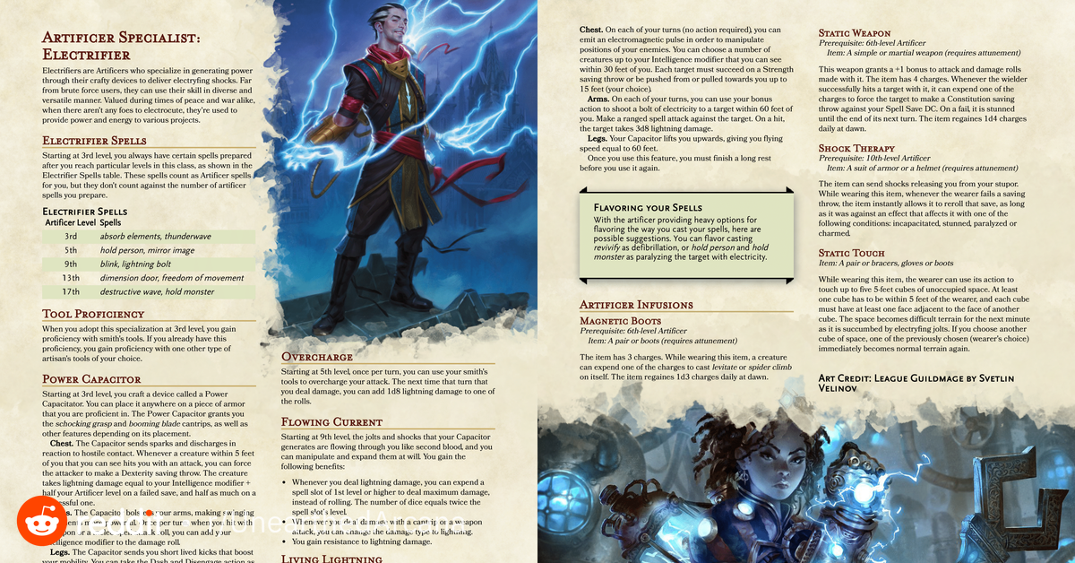 Do You Want To Make A Fantasy Tesla Looking To Play An Izzet Artificer Do You Just Want To Thr In 2020 Dnd Classes Dungeons And Dragons Dungeons And Dragons Homebrew Create account or sign in. dnd classes dungeons and dragons