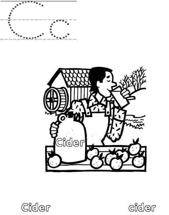 Free Coloring Pages Of Apple Cider Happy National Apple Cider Day