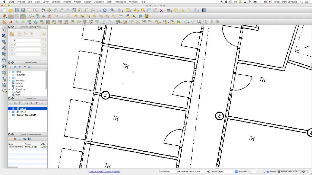 QGIS tutorial :Draw shapes over floor plan | Geospatial