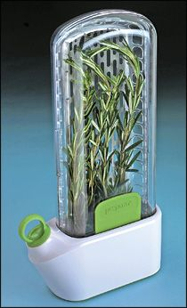 Keeps fresh herbs and asparagus fresher, longer!