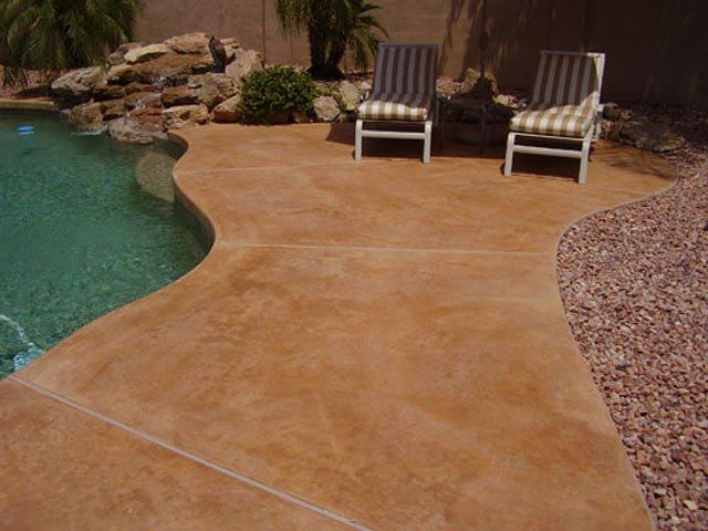 Concrete Patios - ConcreteIDEAS Backyard Remodel Pinterest