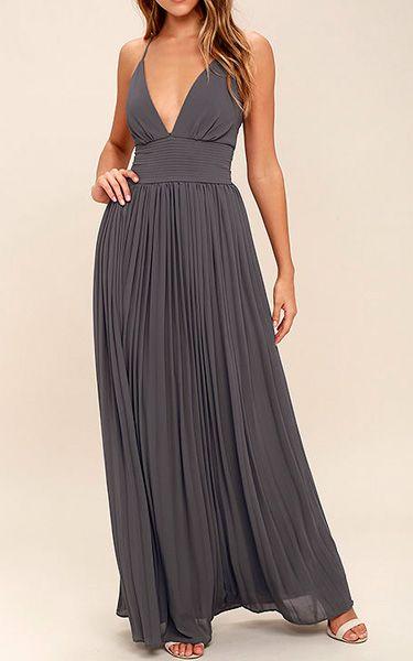 Slate Colored Dresses