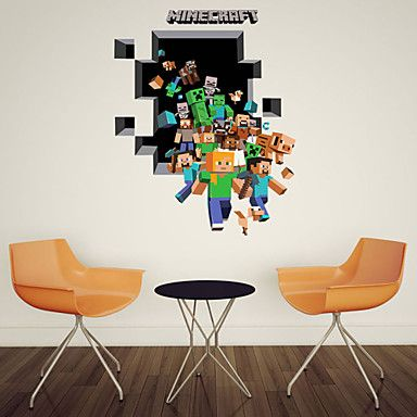 3D Wall Stickers Wall Decals, Style Running PVC Wall Stickers U2013 USD $ 13.29