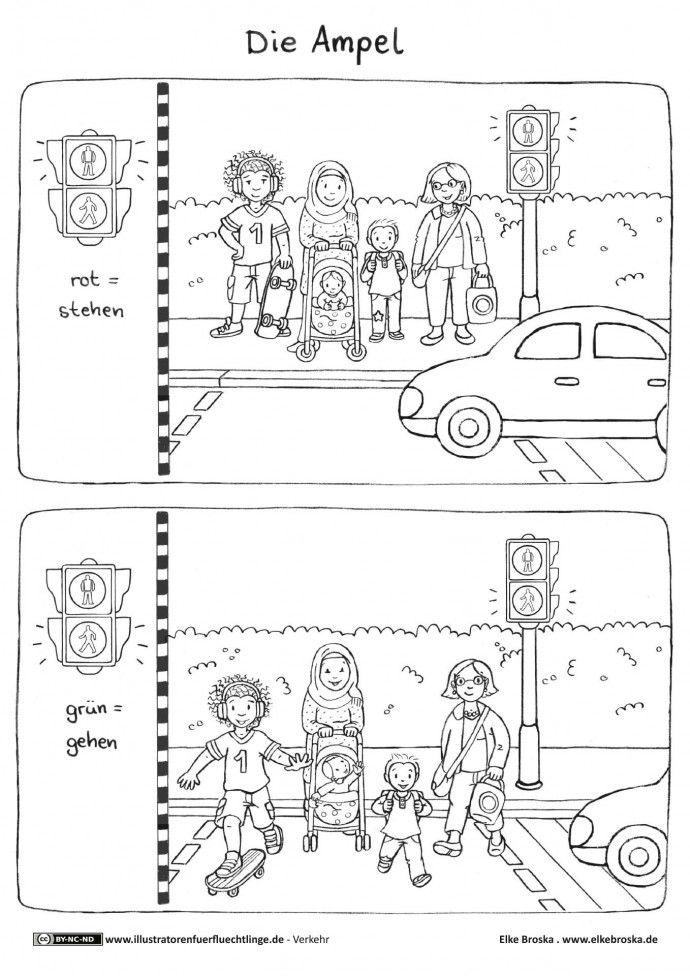 Verkehr - Ampel - Broska … | kids in 2018…