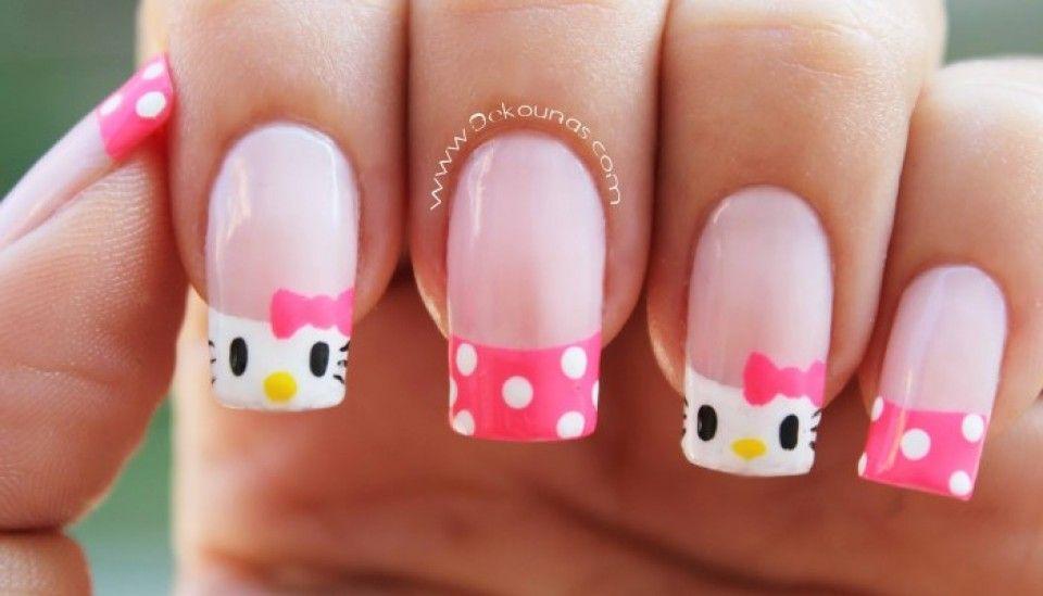 Cómo decorar tus uñas con Hello Kitty? (Tutorial) | Hello kitty ...