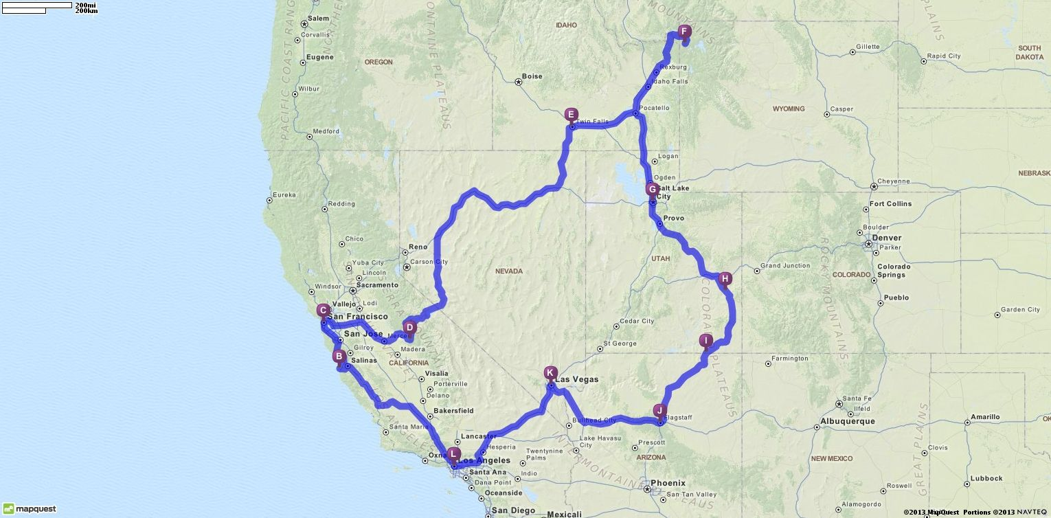 Driving Directions From Los Angeles California To Los Angeles - Mapquest california