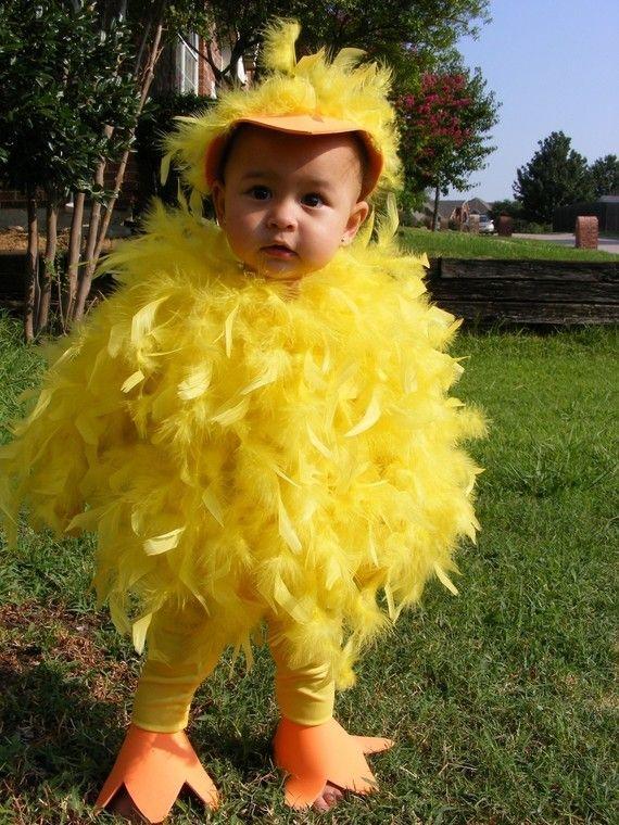 Gelbe Feder Baby-Küken-Halloween-Kostüm für Kleinkinder Patito - halloween costume ideas toddler