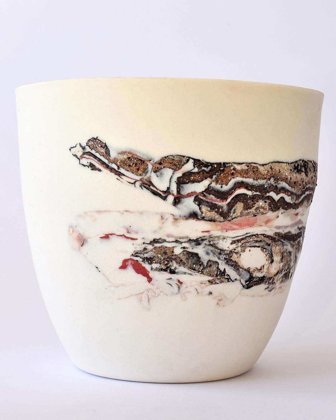Larissa Warren creates fine, translucent porcelain lighti