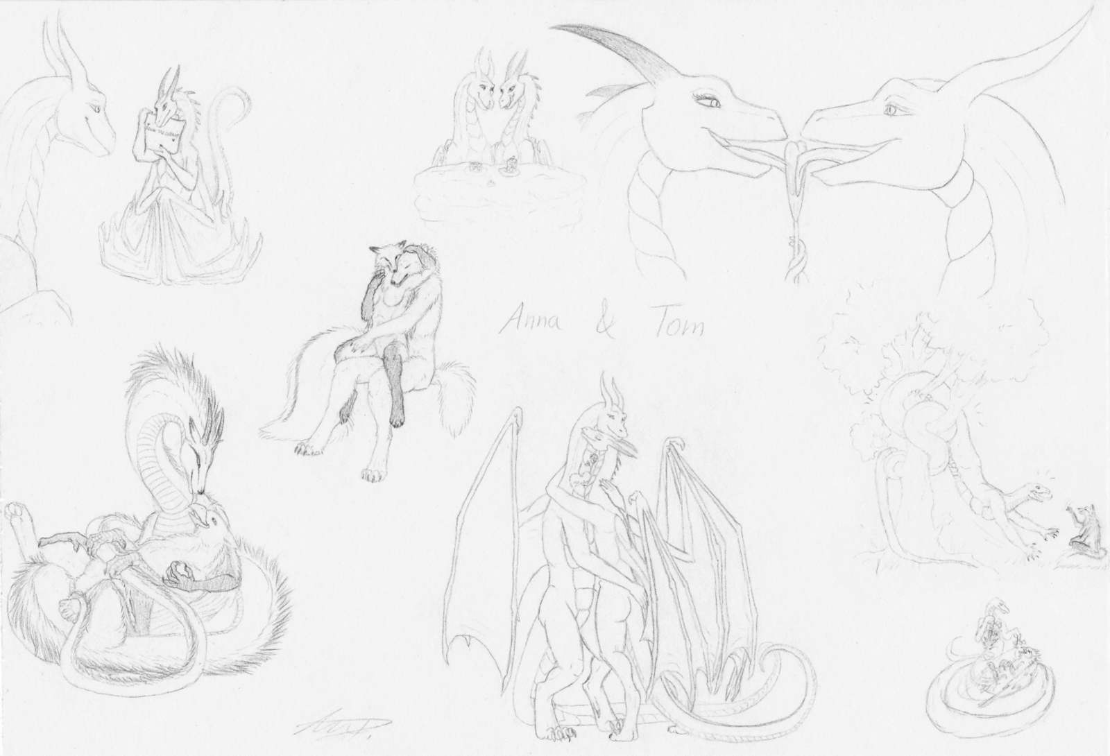Sketch Page for Tom, Valentine's Day 2014 by VixenDra