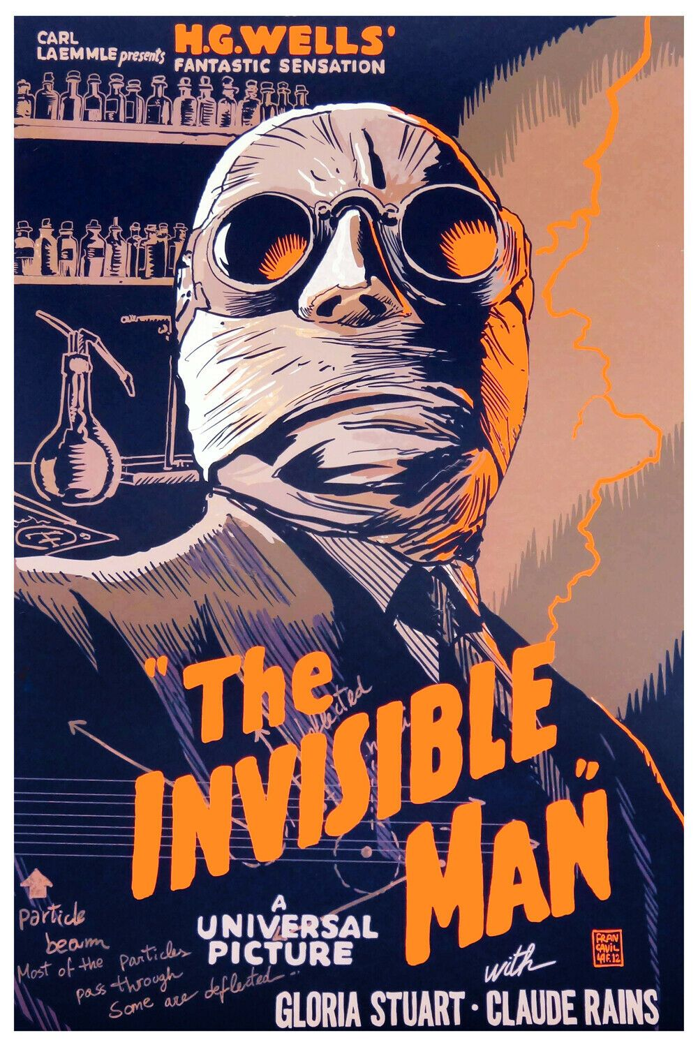 8232 Decoration Poster Home Room Wall Art Print Design The Invisible Man Movie Old Movie Posters Vintage Movies Movie Posters Vintage