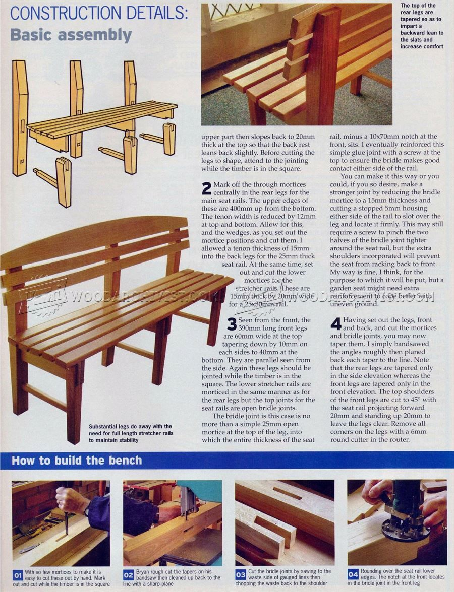 2591 bench seat plans outdoor furniture plans new project