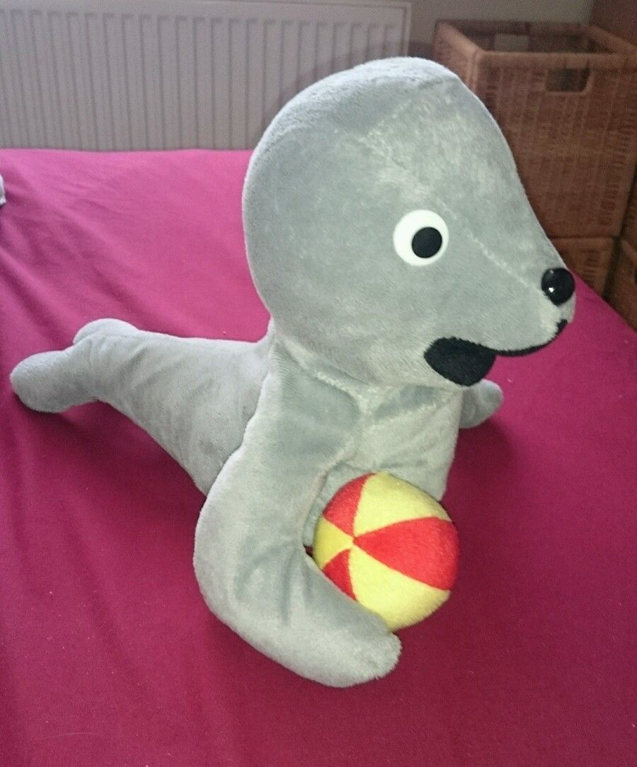 pingu show robby the seal large soft plush toy robbie
