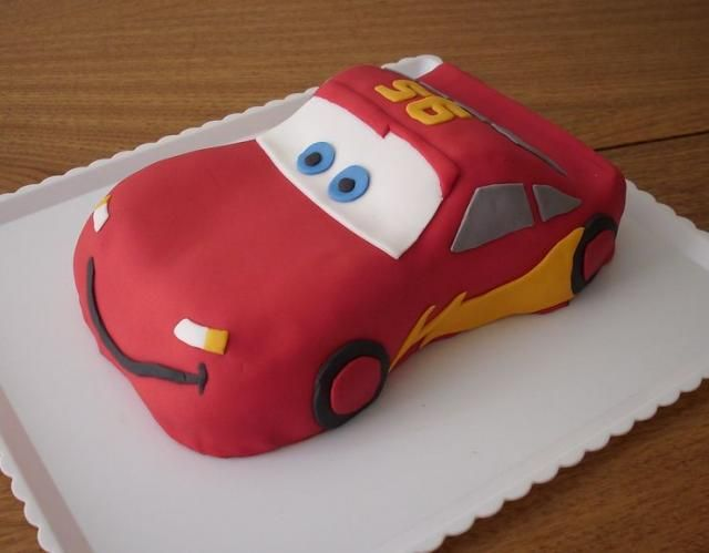 Cars McQueen Birthday CakeJPG Elliotts Birthday Cake Ideas