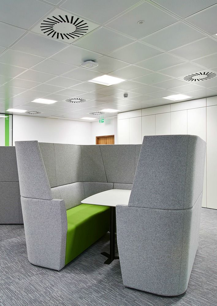 Office Furniture Huddle Pod This Seating Booth Is A Great Solution For An Open Plan The Enclosed E Gives Staff Privacy