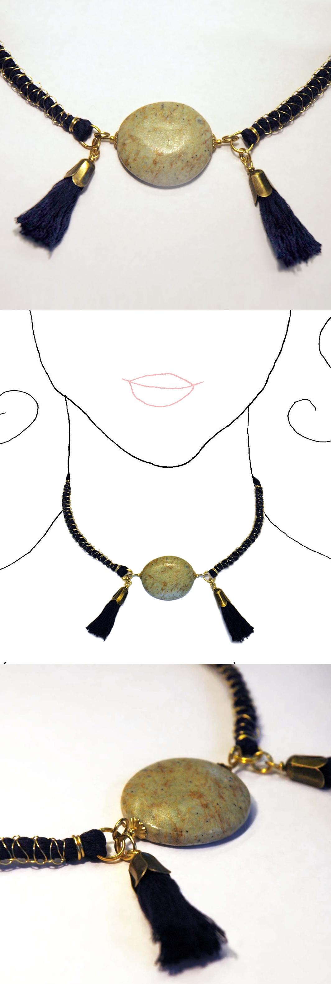 Handmade necklace. Unique design. All the collection at www.caixademistos.com  Online Shop at Dawanda: http://en.dawanda.com/product/44885418-Collar-V
