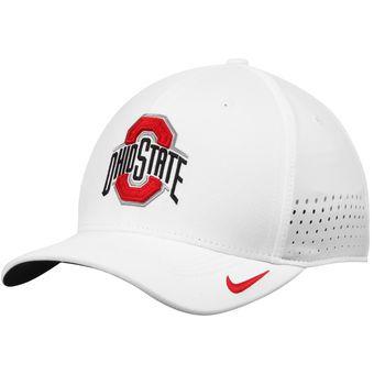 promo code a3e7f 67ecb Nike Ohio State Buckeyes White Sideline Vapor Coaches Performance Flex Hat