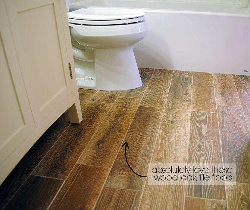 Faux wood tiles are a great flooring material for bathrooms. They\'ll ...