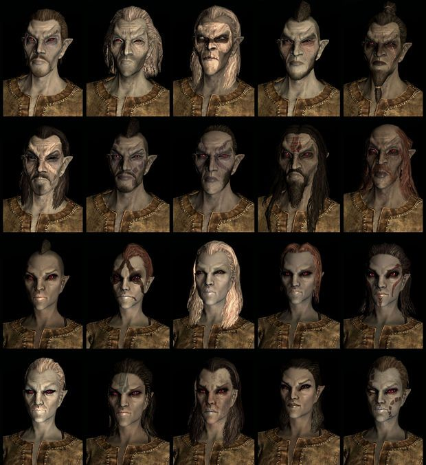 Dark Elf Or Dunmer Race And Their Names In Skyrim The Elder