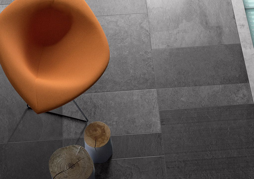 Ardesia mix is a #stone effect #porcelain #stoneware with a textured