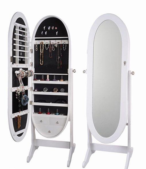 Espejo joyero ovalado muebles pinterest espejo for Donde venden espejos