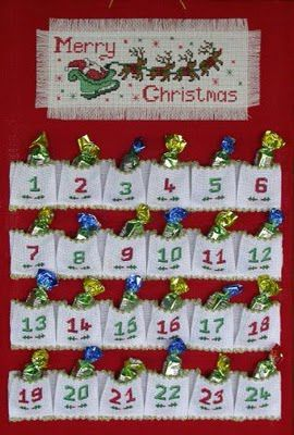 Calendario Dellavvento Punto Croce.Il Calendario Dell Avvento Idee Fai Da Te Calendario