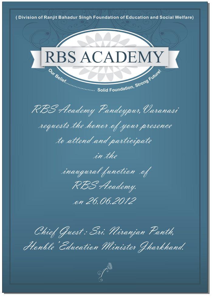 Rbs Academy Visiting Card Design Branding Pinterest Visiting - invitation card kolkata