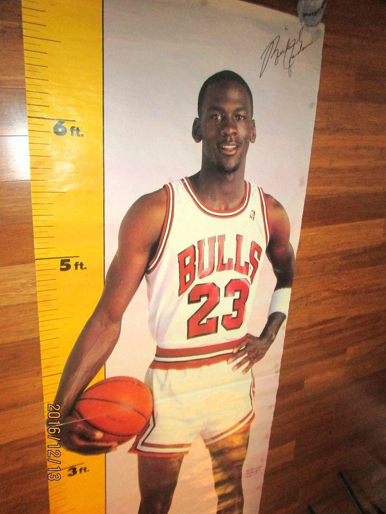 Michael Jordan Vintage Life Size Poster 1980 S Chicagobulls