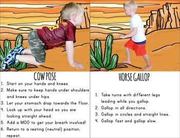 cowboy themed kids yoga in 2020  yoga for kids yoga